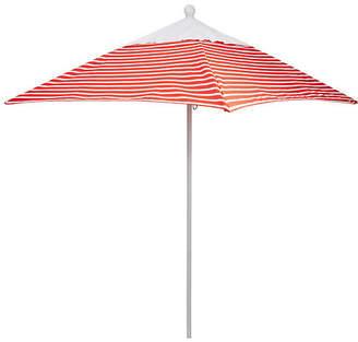 California Umbrella Square 6' Patio Umbrella - Flame Stripe