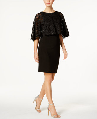 Jessica Howard Lace Capelet Sheath Dress $109 thestylecure.com