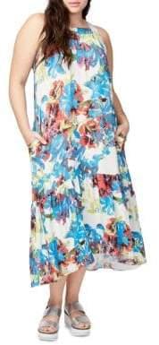 Rachel Roy Ruffled Floral Dress
