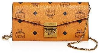 MCM Patricia Visetos Large Chain Wallet $330 thestylecure.com