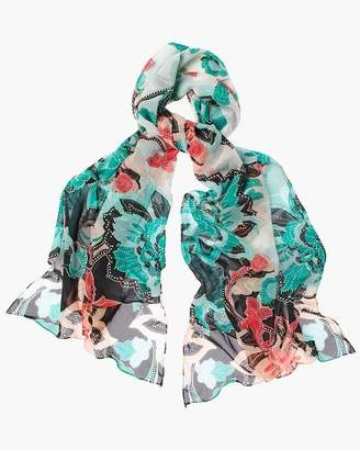 Convertible Floral Scarf