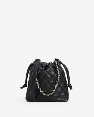 Express Quilted Bucket Bag