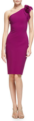 La Petite Robe di Chiara Boni Enrica One-Shoulder Sheath Dress, Vinaccia $890 thestylecure.com