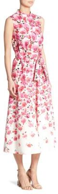 Lela Rose Belted Maxi Dress $1,395 thestylecure.com