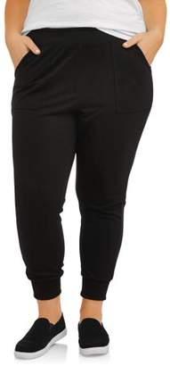 Terra & Sky Women's Plus Size Ribbed Cuff Jogger