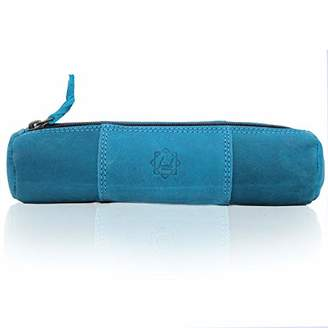 Birch Vintage Leather Pencil Case with Zipper