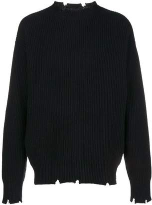 MSGM ripped edges sweater