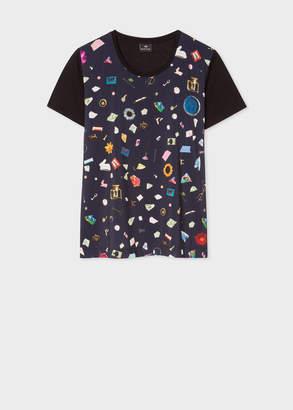 Paul Smith Women's Navy 'Terrazzo' Print T-Shirt