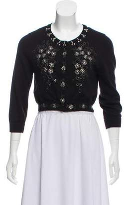 Philosophy di Alberta Ferretti Embellished Long Sleeve Cardigan