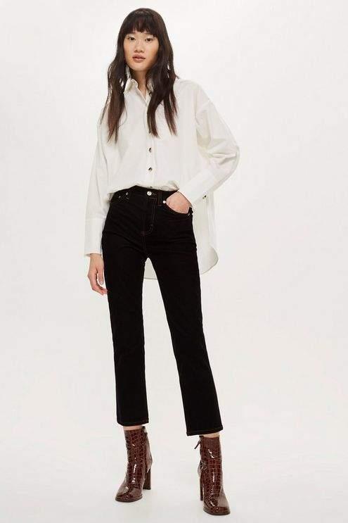 Velvet Twill Straight Leg Jeans
