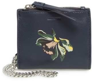 Women's Allsaints Flora Leather Crossbody Wallet - Blue $98 thestylecure.com
