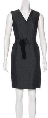 Akris Wool-Blend Paneled Dress
