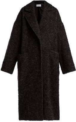 Raey Dropped Shoulder Wool Blend Blanket Coat - Womens - Black