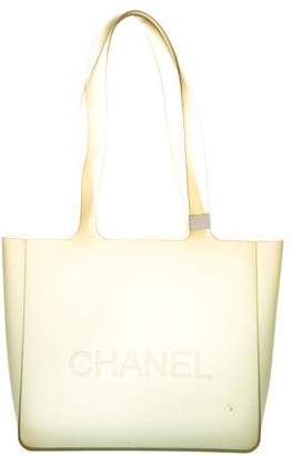 Chanel Logo Jelly Tote
