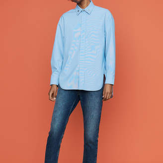 Maje Oversize blouse with double-collar shirt