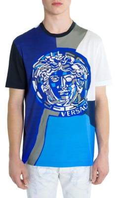 Versace Color Block Medusa T-Shirt