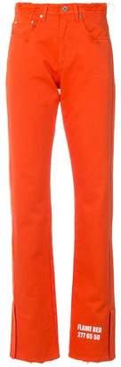 MSGM logo print trousers