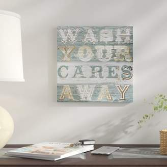 East Urban Home 'Bathtime Sign I' Textual Art on Canvas