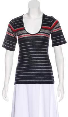 Rag & Bone Wool-Blend Short Sleeve Top