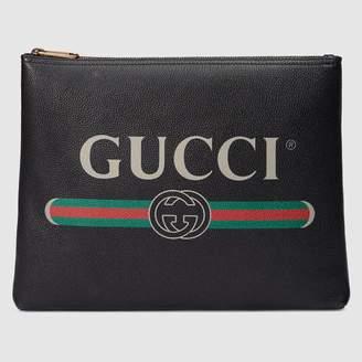 Gucci (グッチ) - 〔グッチ プリント〕 レザー ミディアムサイズ ポートフォリオ