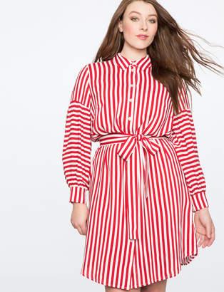 ELOQUII Striped Shirtdress