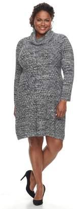 Dana Buchman Plus Size Mitered Sweater Dress