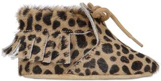 Leopard Print Ponyskin Boots