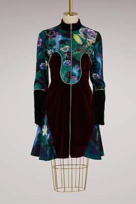 Mary Katrantzou Faylinn embroidered velvet dress