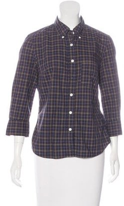 Boy. by Band of Outsiders Plaid Button-Up Top $65 thestylecure.com