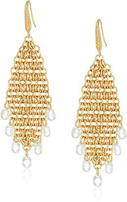 Laundry by Shelli Segal Mesh Chain Chandelier Drop Earrings