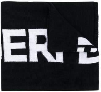 Karl Lagerfeld logo-intarsia scarf
