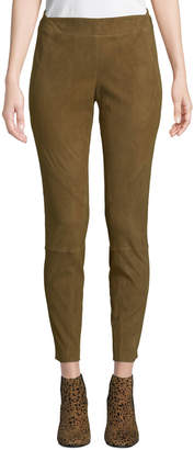 Lafayette 148 New York Brooklyn Stretch-Suede Leggings