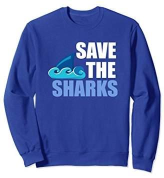 Save The Sharks Womens I Love Shark Novelty Sweatshirt