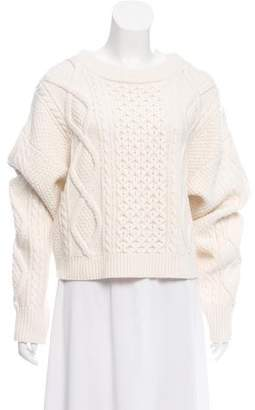 3.1 Phillip Lim Wool Crop Cable Knit Sweater w/ Tags