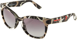 McQ Square Acetate Bird Sunglasses