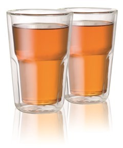 Baccarat Facet Double Wall Glass Medium 345ml Set of 2