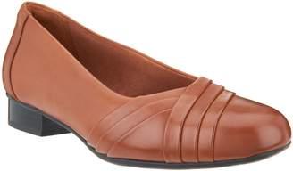 Clarks Leather Slip-On Pumps- Juliet Petra