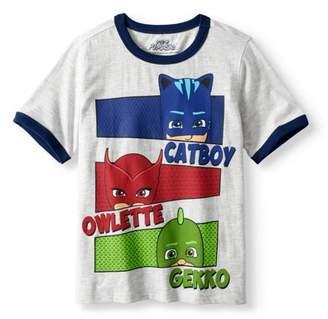 PJ Masks Boys' Character Ringer T-Shirt