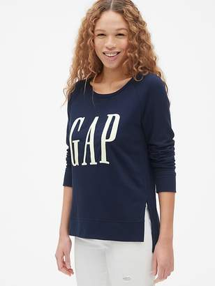 0b18d6ea89bb7 Gap Original Logo Embroidered Sweatshirt Tunic in French Terry