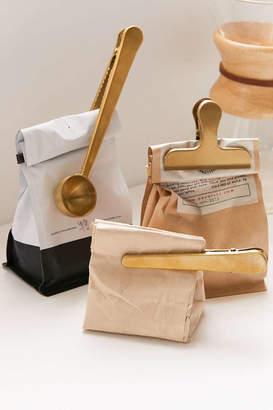 Kikkerland Design Brass Coffee Clip - Set Of 3