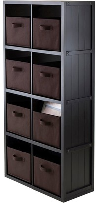 Winsome Timothy 9-piece 8-Cube Storage Shelf & Basket Set