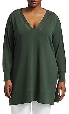 Lafayette 148 New York Lafayette 148 New York, Plus Size Lafayette 148 New York, Plus Size Women's Side Slit Cotton Tunic