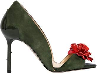 Katy Perry 90mm Faye Flower Suede Pumps