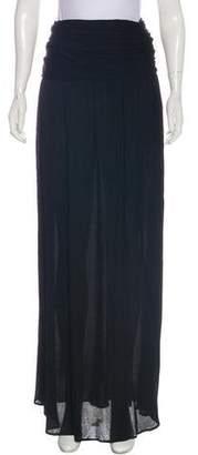 Saint Laurent Flounce Maxi Skirt