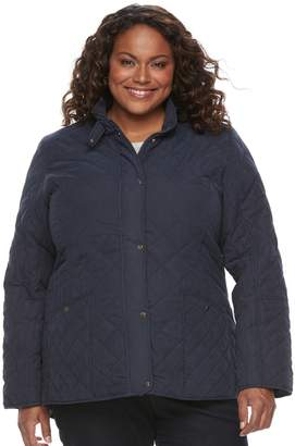 KC Collections Plus Size Diamond Quilted Jacket