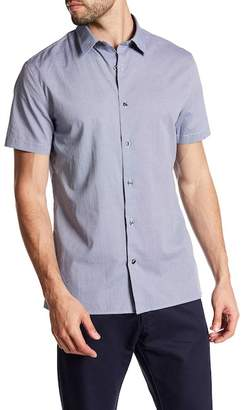 Vince Regular Fit Micro Grid Shirt