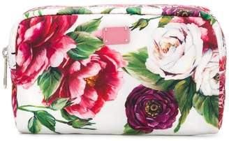 Dolce & Gabbana rose print wash bag