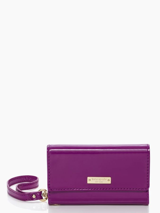 Kate Spade Iphone 5 solid wristlet