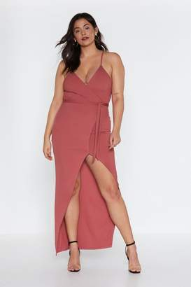 Nasty Gal Wrap-py About It Ribbed Maxi Dress