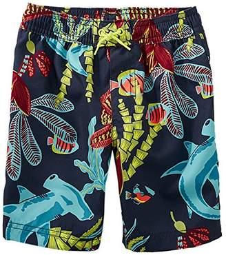 Tea Collection [ティコレクション] 子供服 キッズ 水着 男の子 ボーイズ インポート UPF40+ ネイビー 海の中 8S23600R-F01 US 4T(4~5歳):日本サイズ約100~110cm (日本サイズ110 相当)